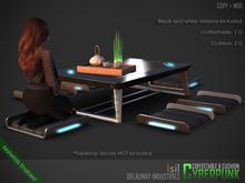 ~isil~ Cyberpunk Japanese Coffee Table & Cushion Set