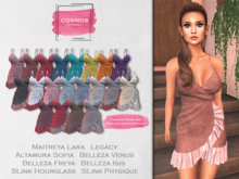 [COSMOS] Christin Wrap Dress Suede / 16+4 Colors Fatpack