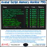 Avatar Script Memory Monitor Pro Version with Satellite Scanner and Remote Boards