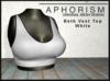 !APHORISM! - Beth Vest Top - White
