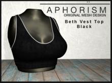 !APHORISM! - Beth Vest Top - Black