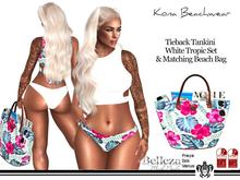 Kona Tropic/White Tighback Tankini With Beach Bag