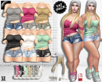 ~NuNa LuNa~ Majoo Top, Shorts, Shoes, Cap Hair *FAT PACK*