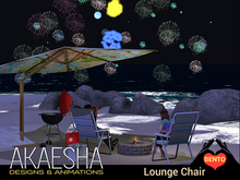 Outdoor Camping Chair (with sparklers!) Bento and Experience Enabled, Texture Change - Style: Mika Lounge Chair