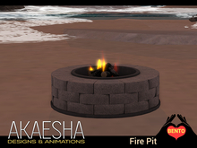 [Akaesha] Stone Fire Pit (touch to get roasting sticks)
