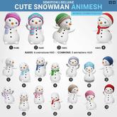 SEmotion Libellune Cute Snowman Animesh #9