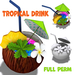 [ FULL PERM ] Coconuts Tropical Drink