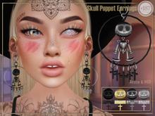 #187# Skull Puppet Earrings