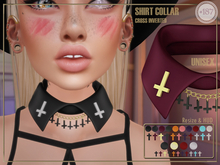 #187# Shirt Collar Cross Inverted