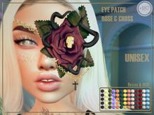 #187# Eye Patch Rose & Cross