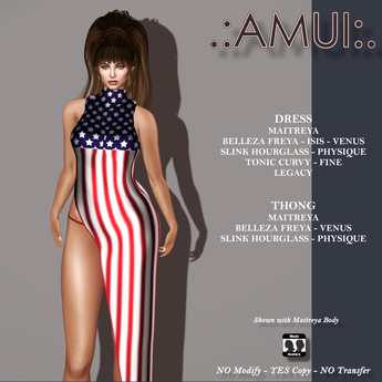 .:AMUI:. 4th of July Independence day Dress
