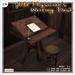 [V/W] Old Physician's Writing Desk - Medieval fantasy / Vintage desk with stool - Mesh furniture