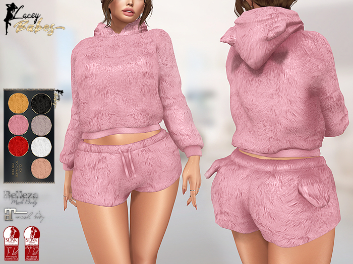 LB - Fluffy Loungewear (7 Colours HUD) *MATERIALS ENABLED*