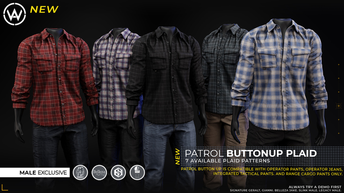 [WAZ] Patrol Buttonup Plaid (Buffalo Red)