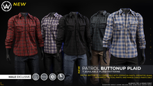[WAZ] Patrol Buttonup Plaid (Buffalo Red) BOXED [Add/Rezz]