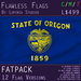 Oregon, USA Flag (Fatpack, 12 Versions) - With Rear-Side Design
