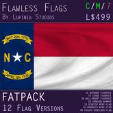 North Carolina, USA Flag (Fatpack, 12 Versions)