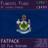 Maine, USA Flag (Fatpack, 12 Versions)