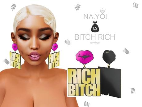 NA.YO! - RICH B**CH Earrings