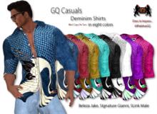 69ParkAveGQ - Men's Casual Demin Shirt