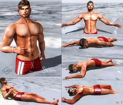 Lush Poses - Swim - Men bento pose
