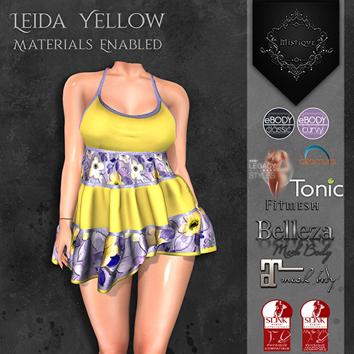 **Mistique** Leida Yellow{wear me and click to unpack)
