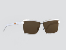 Sunglasses [NEUTRA] Cine - White Frame,  Brown Lens UNISEX