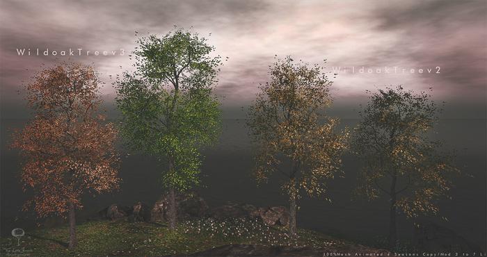 LB Wild Oak Tree v2 and v3 Animated 4 Seasons