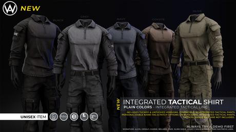[WAZ] Integrated Tactical Shirt (Plain Pack) BOXED [Add/Rezz]