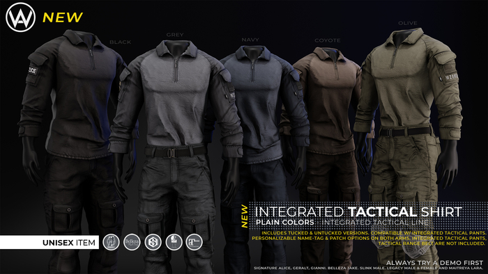 [WAZ] Integrated Tactical Shirt (Black)