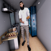 >IC< Blueberry Plaid Pants
