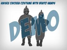 Unisex Chicken Costume with Bento Hands - DEMO