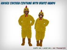Unisex Chicken Costume with Bento Hands