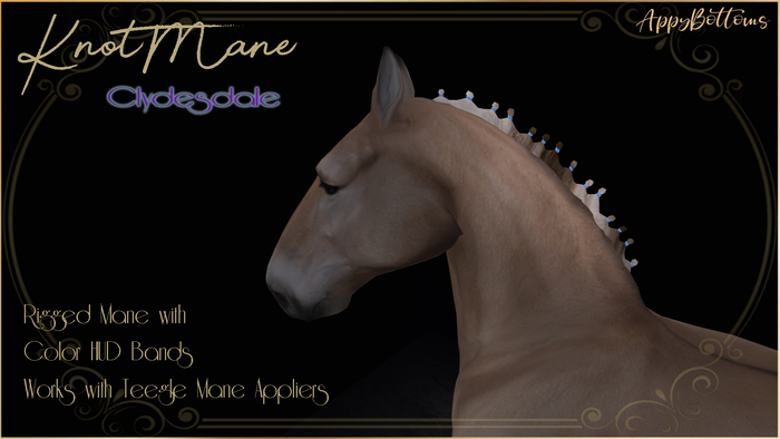 :AppyBottoms: TeeglePet - KnotMane- Clydesdale