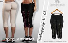MANOLI BLACK LEGGINGS FEMALE  - MESH - MAITREYA- BELLEZA FREYA- LEGACY - FashionNatic