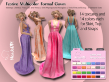 Festive Multicolor Formal Gown