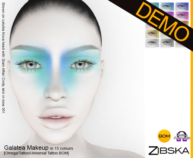 Zibska ~ Galatea Makeup Demo [Omega applier, tattoo & universal tattoo BOM]