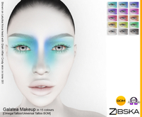 Zibska ~ Galatea Makeup in 15 colors with Omega appliers, tattoo and universal tattoo BOM layers