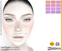 Zibska ~ Lalli Blush in 12 colors with omega applier, tattoo and universal tattoo BOM layers