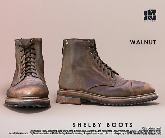 [Deadwool] Shelby boots - walnut