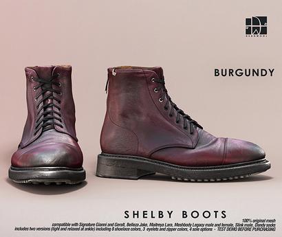 [Deadwool] Shelby boots - burgundy