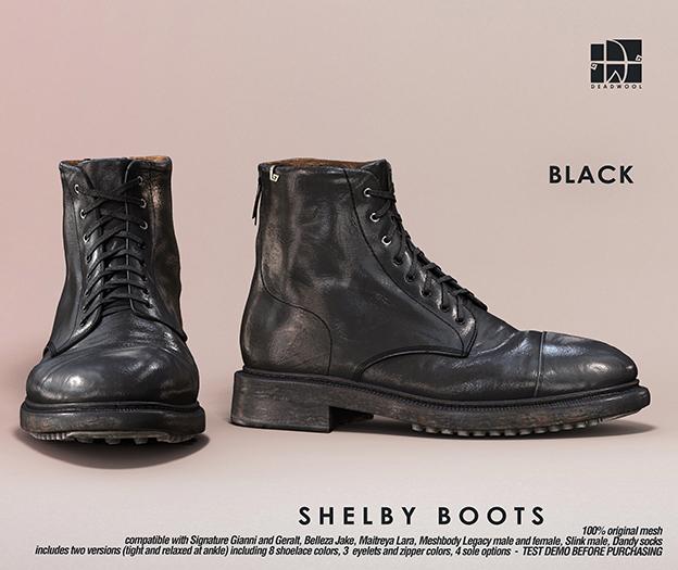 [Deadwool] Shelby boots - black