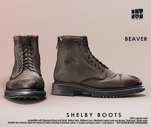 [Deadwool] Shelby boots - beaver