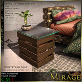 =Mirage= Boho Loft Nightstand