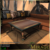 =Mirage= Square Coffee Table - African