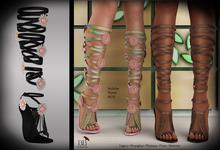 (*<*) 1313 Le Fleur Sandals - Black Leather