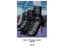 JACOBS - Evelyn Python Boot . Onyx