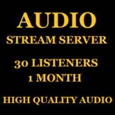 Shoutcast Stream 25 Listeners 1 Month