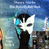 Butterfly Ball Mask Blue Stone's Works