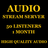 Shoutcast Stream Server 50 Listeners 1 Month